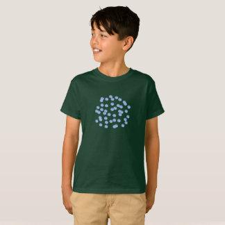 Blue Polka Dots Kids' Cotton T-Shirt
