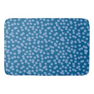 Blue Polka Dots Large Bath Mat Bath Mats