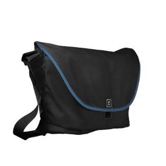 Blue Polka Dots Large Commuter Bag Inside Print
