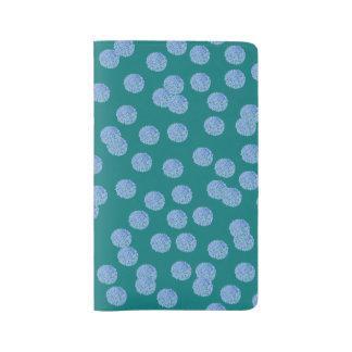 Blue Polka Dots Large Notebook
