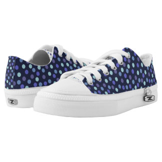 Blue Polka-dots Low Tops