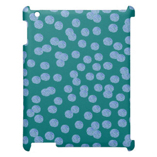 Blue Polka Dots Matte iPad Case