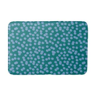 Blue Polka Dots Medium Bath Mat Bath Mats