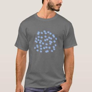 Blue Polka Dots Men's Basic Dark T-Shirt