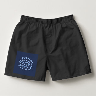 Blue Polka Dots Men's Boxers