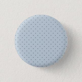 Blue Polka Dots on Lighter Blue 3 Cm Round Badge