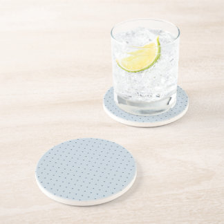 Blue Polka Dots on Lighter Blue Coaster