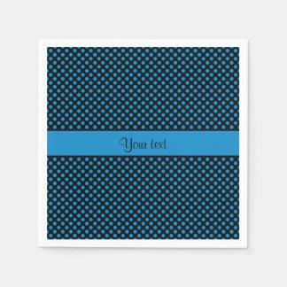 Blue Polka Dots Paper Napkins