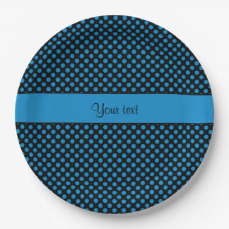 Blue Polka Dots Paper Plate