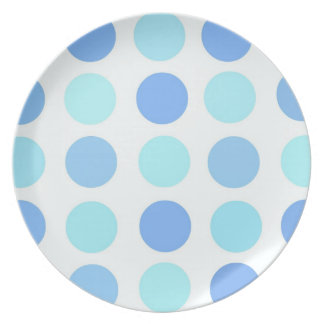 Blue Polka Dots Party Plates