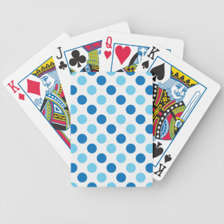 Blue polka dots pattern bicycle playing cards