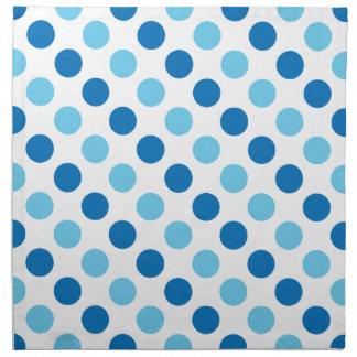 Blue polka dots pattern napkin