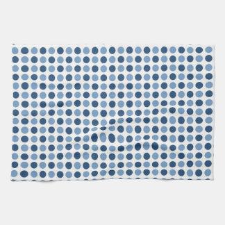 Blue Polka Dots Pattern Tea Towel