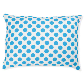 Blue Polka Dots Pet Bed