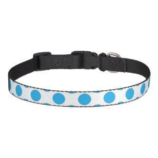 Blue Polka Dots Pet Collar