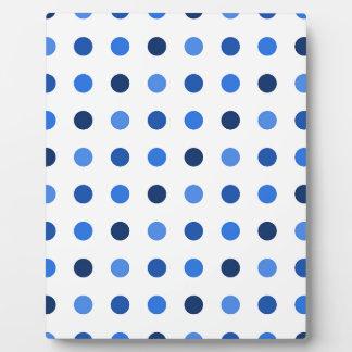 Blue polka dots plaque