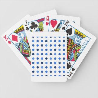 Blue Polka-dots Poker Deck