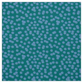 Blue Polka Dots Polyester Weave Fabric