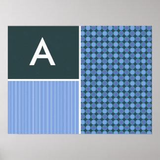 Blue Polka Dots Print