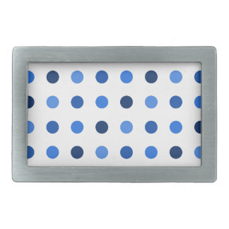 Blue Polka-dots Rectangular Belt Buckle