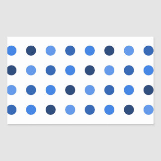 Blue Polka-dots Rectangular Sticker
