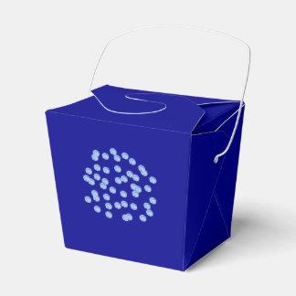 Blue Polka Dots Take Out Favor Box