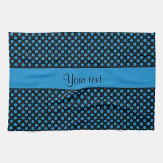Blue Polka Dots Tea Towel