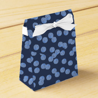Blue Polka Dots Tent Favor Box