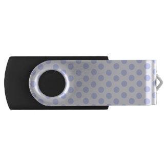 Blue Polka Dots USB Flash Drive
