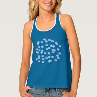 Blue Polka Dots Women's All-Over Print Tank Top