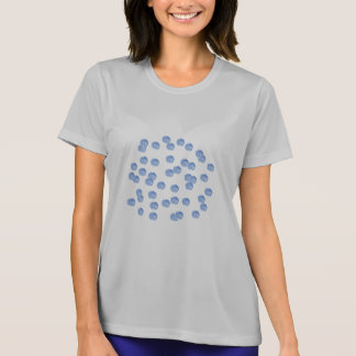 Blue Polka Dots Women's Performance T-Shirt