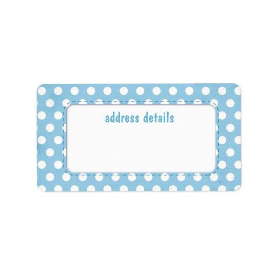 Blue Polkadot Avery Label