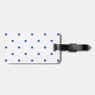 Blue Polkadots Small Luggage Tag