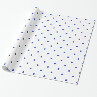 Blue Polkadots Small Wrapping Paper