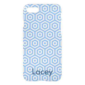 Blue polygon design iphone 7 case
