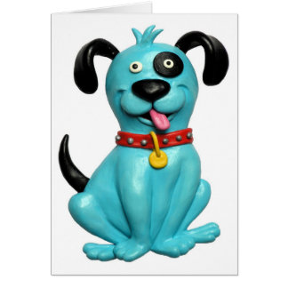 Blue Pooch Card