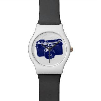 Blue Pop Art Camera Watch