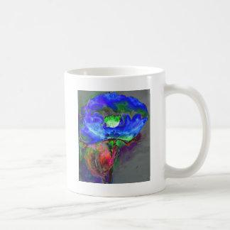 Blue Poppy Basic White Mug