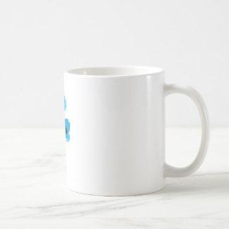 Blue poppy - blue poppy basic white mug