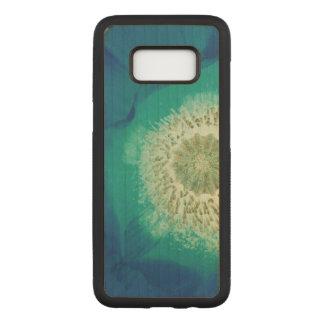 Blue Poppy Carved Samsung Galaxy S8 Case