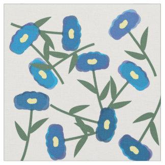 Blue Poppy Field Fabric