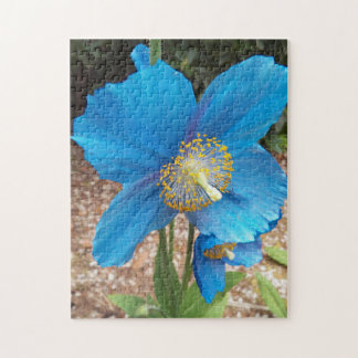 Blue Poppy Floral Jigsaw Puzzle