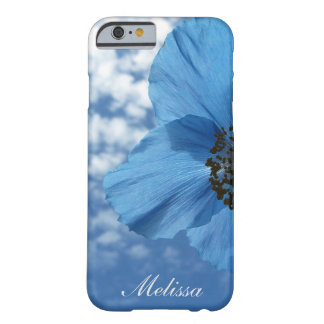 BLUE POPPY flower blue sky Barely There iPhone 6 Case
