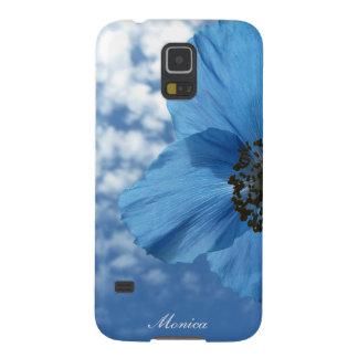 BLUE POPPY flower blue sky Galaxy S5 Cover
