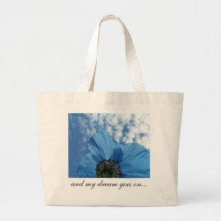 BLUE POPPY flower dream blue Jumbo Tote Bag