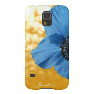 BLUE POPPY flower golden sky Galaxy S5 Covers