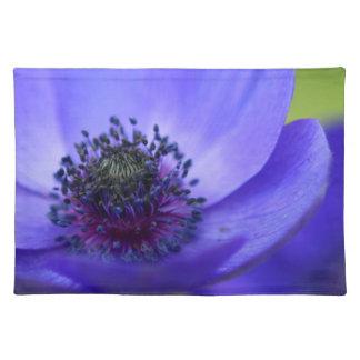Blue Poppy Flower Place Mats