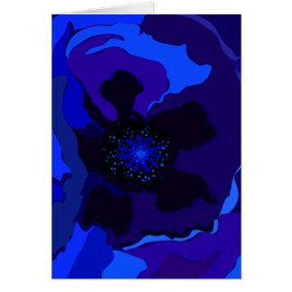 Blue Poppy Greeting Card