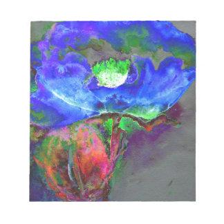 Blue Poppy Notepad
