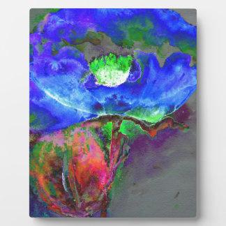 Blue Poppy Photo Plaques